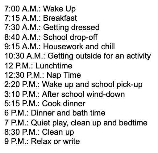 stay at home mom schedule_2