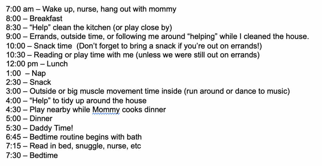stay at home mom schedule_9