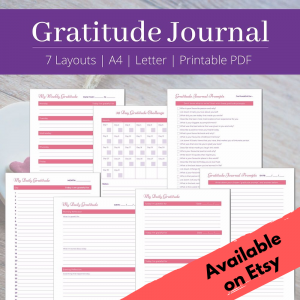 graititude journal printable